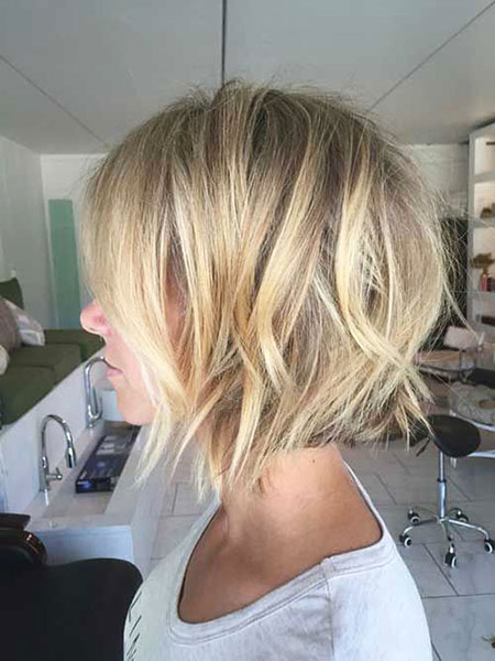 Jenna Elfman, Bob, Blonde, Balayage, Layered