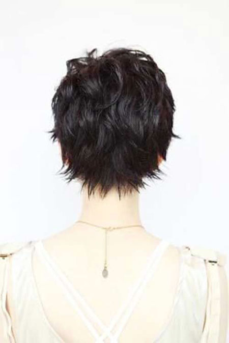 Back View, Pixie, Women, Trendy, Shaggy