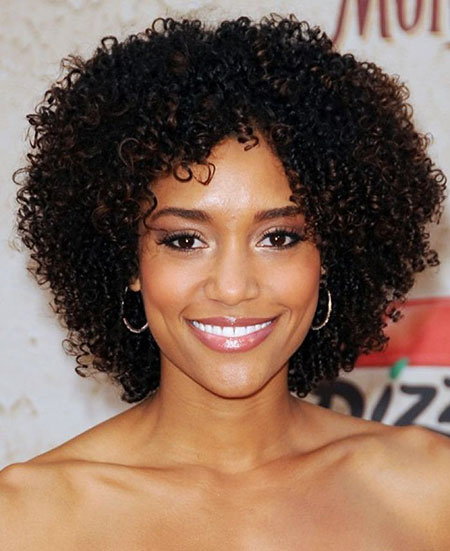 Celebrity Hair, Curly, Natural, Women, Black