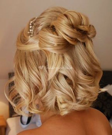 Short Hairstyle for Wedding, Wedding, Half, Updo, Up