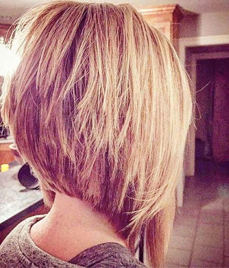 Short Bob Hairstyle 207, Bob, Women, Layered, Frisyrer