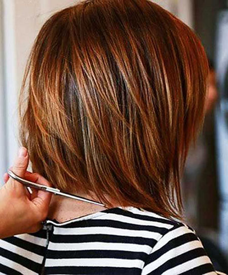 Short Hair, Bob, Layered, Highlights, Women