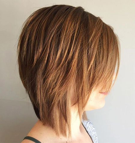 Modern Bob Hair, Bob, Layered, Highlights, Choppy