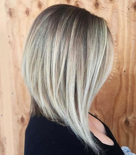 Modern Hair, Bob, Blonde, Long, Layered