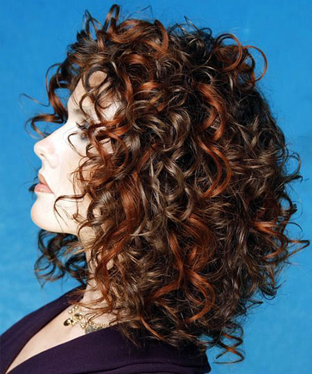 Medium Leght Hair, Curly, Women, Trends, Medium