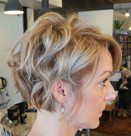 Wavy Hair, Bob, Wavy, Side, Pixie