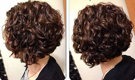 Brown Balayage Bob, Curly, Women, Devacurl, Curls