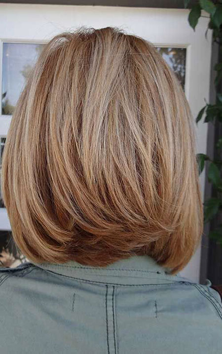 Back View, Bob, Medium, Layered, Highlights