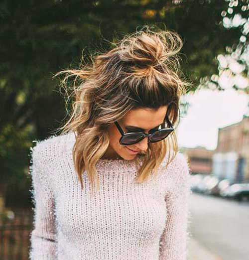 Cute Buns for Short Hair-7