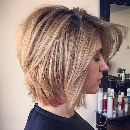 Blonde Layered Hair, Bob, Blonde, Bobs, Volume