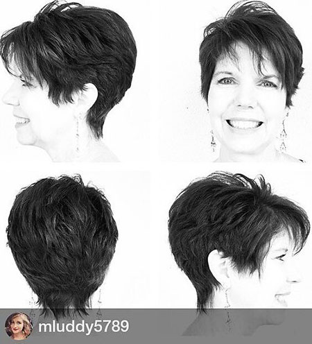 Modern Hair, Pixie, Over, Women, 50