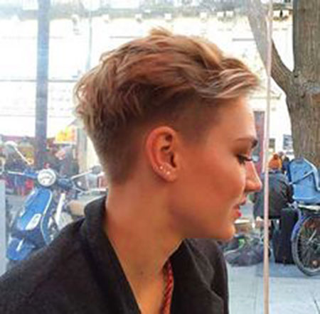 Blonde Hair, Pixie, Under, Womens, Side