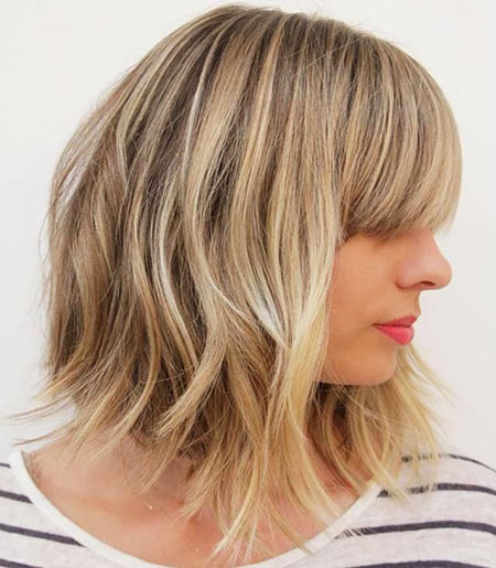 Choppy Hair, Bob, Blonde, Choppy, Balayage