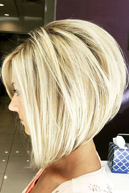 Long Stacked Bob , Bob, Blonde, Line, Bobs