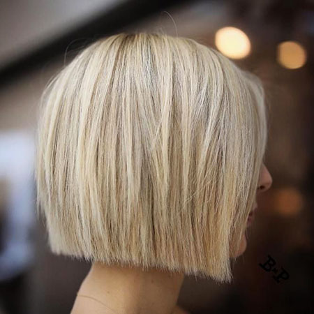 Angled Blonde Hair, Blonde, Highlights, Fine, Bobs
