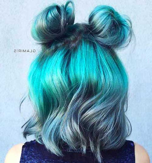 Cute Buns for Short Hair-8
