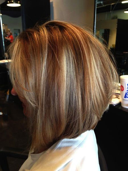 Shoulder Leght, Bob, Highlights, Blonde, Women