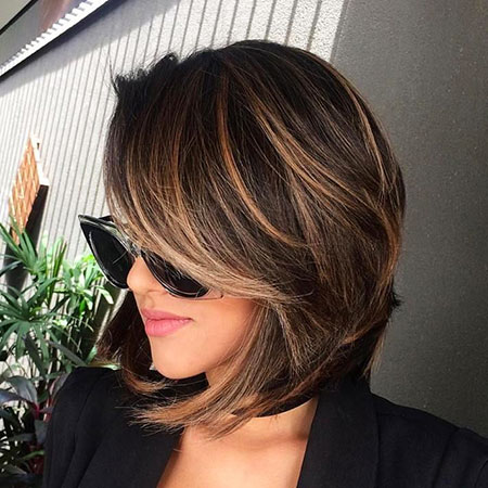 Cute Hair, Bob, Balayage, Chocolate, Brown