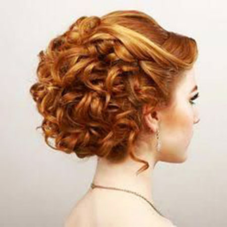 Short Curly Prom Hair, Wedding, Updo, Prom, Curly