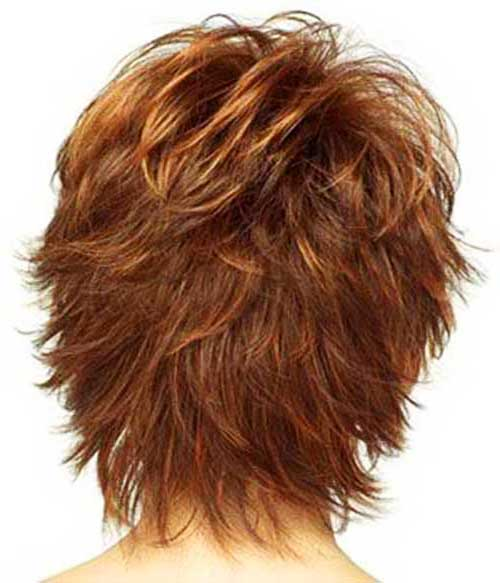 Short Wavy Pixie Back View