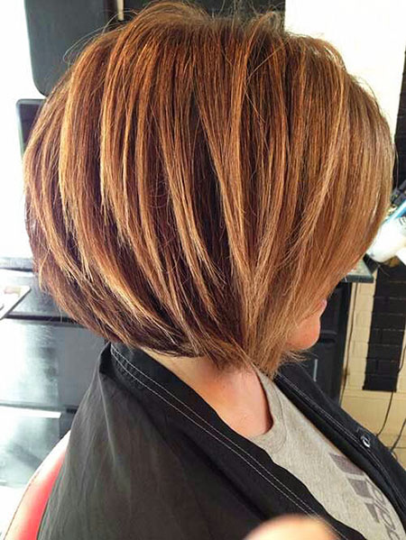 Bob Layered Women Over Blonde 50