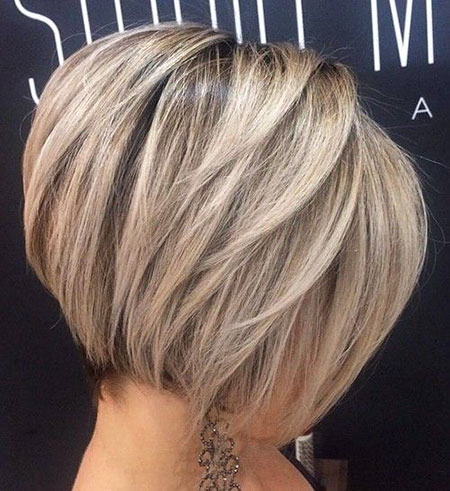 Bob Balayage Thick Blonde Layered Straight