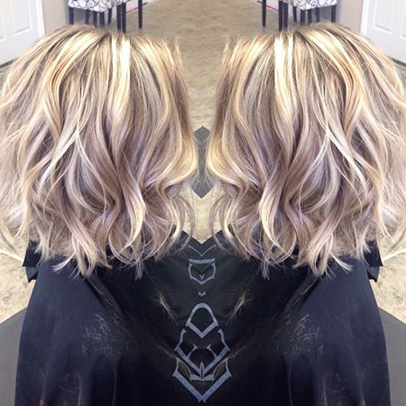 Blonde Color Balayage Highlights Yellow Lowlights