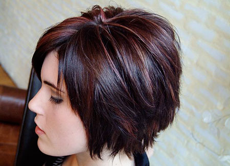 Bob Color Layered Cocoa Cinnamon Choppy