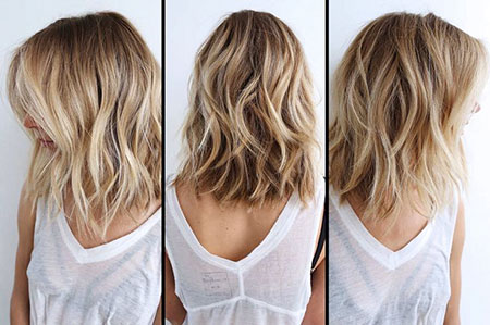 Color Bob Blonde Balayage Ombre Beach