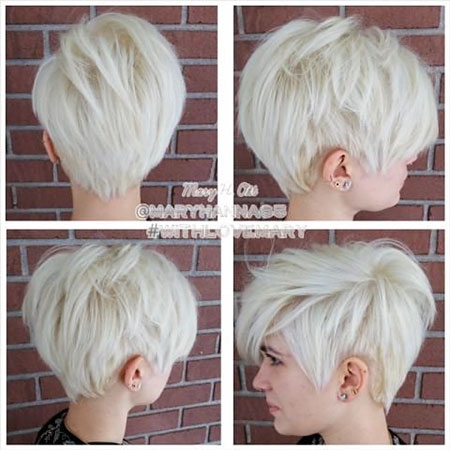 Pixie Marilyn Mary Color Blonde 2017 , Layered Hairstyle