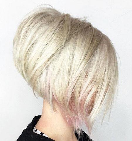 Bob, Blonde Pink Hairstyle