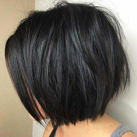 Bob Layered Women Length İnverted Choppy Chin Brown , Choppy Bob Hairstyle