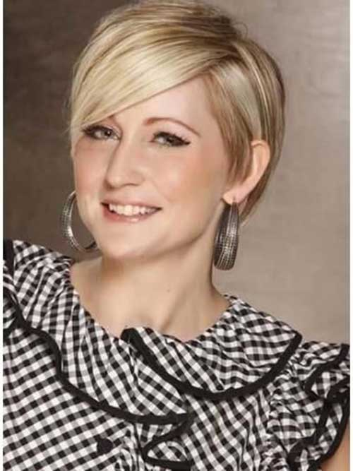 Short Haircuts for Round Face-15