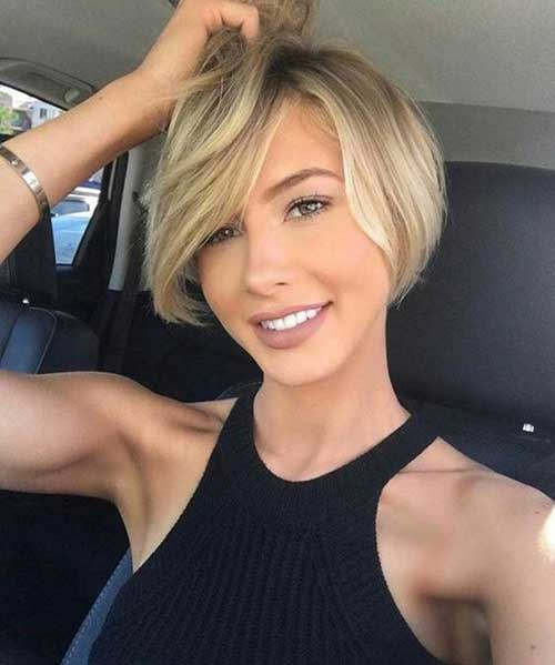 Short Haircuts for Round Face-17