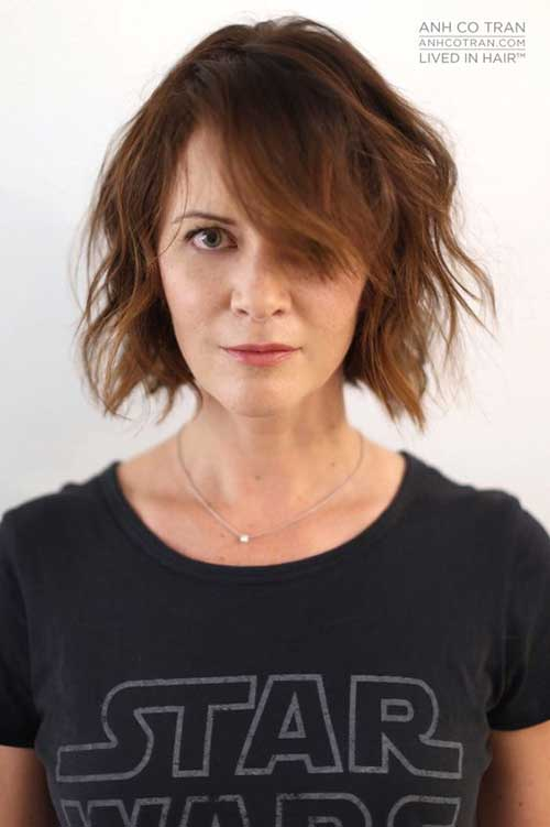 Short Haircuts for Round Face-9