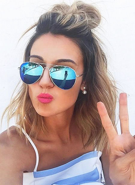 Cute Styles for Short Hair, Sunglasses Quay Women Updo