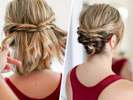 Easy Updos for Short Hair, Updo Messy Hair Short