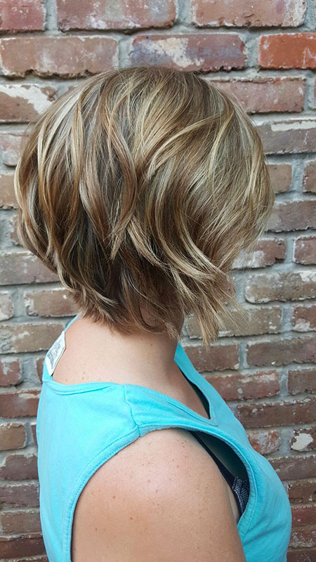Layered Short Haircuts, Layered Bob Balayage Short