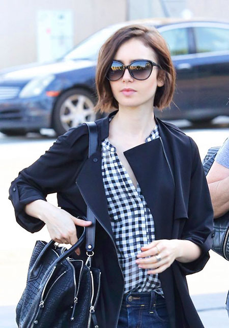 25 Lily Collins Short Hair Celebrity Short Hairstyles