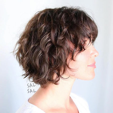 Wavy Bob Choppy Length