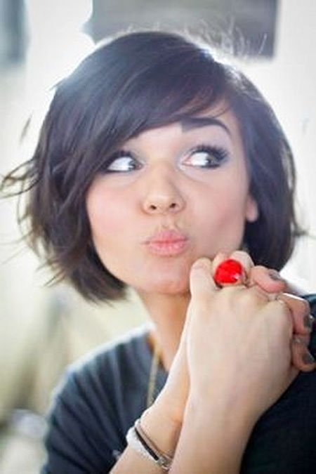 Short Hair Bangs Women