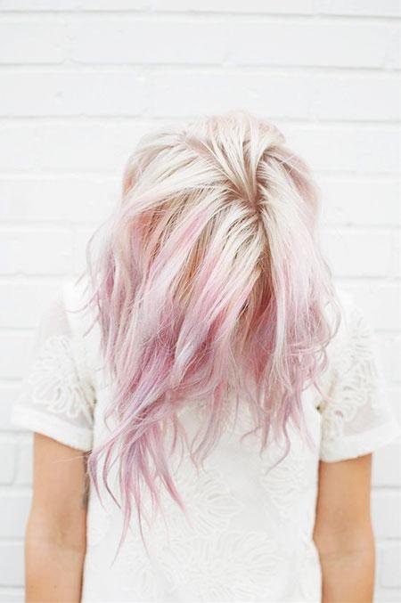Hair Pink Pastel Gold
