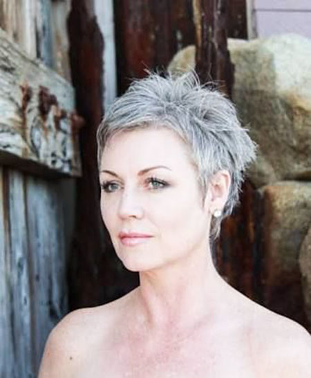 Short Pixie Grey Hair
