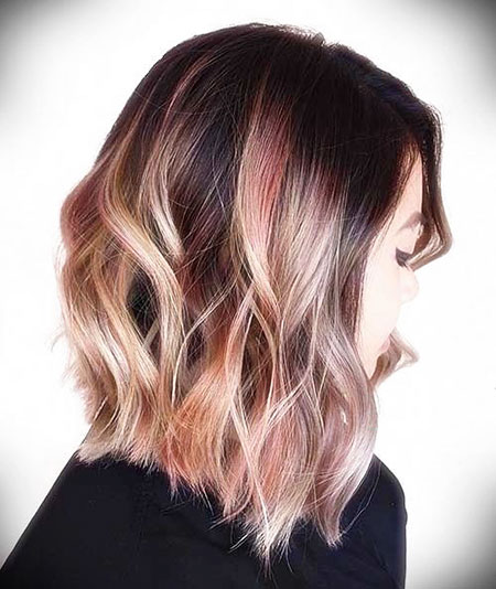 Hair Gold Color Rose