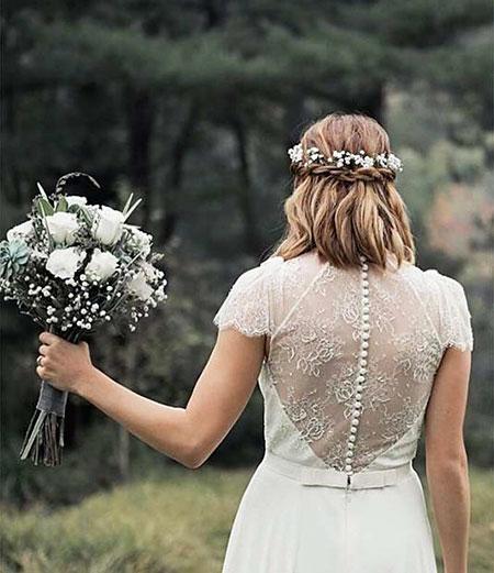 Wedding Hair Up Half