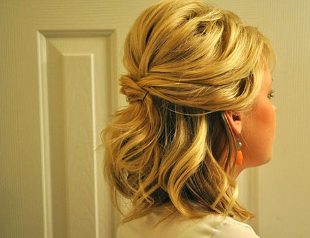 Hair Wedding Length Half