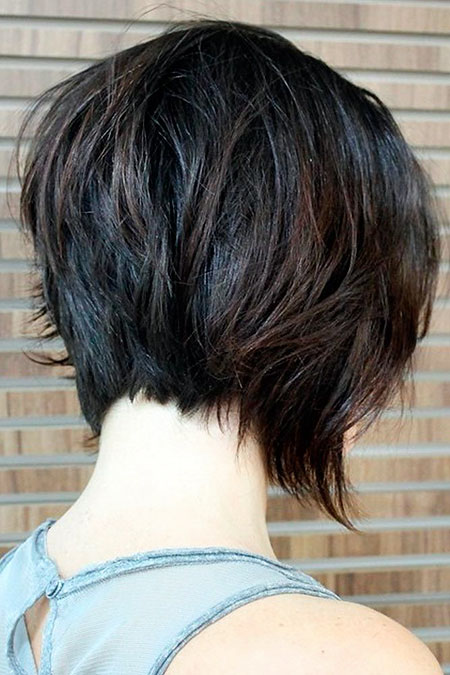Short Layered Bob Tousled
