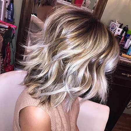 Blonde Length Hair Bob