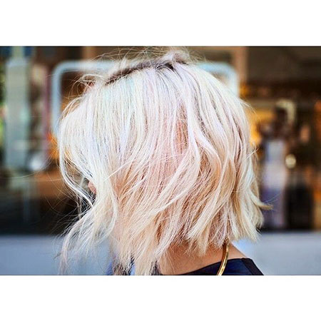 Blonde Choppy Bob Balayage