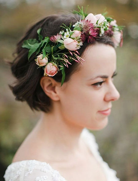 Wedding Flowers Crown Hair